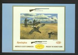 Remington Guns Ad - Duck Man Men Dog Rifle Gun Hunting Hunter NEW Postcard - Hunting