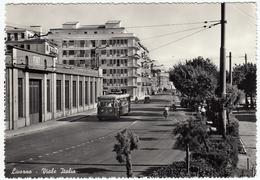 LIVORNO - VIALE ITALIA - 1955 - BUS - FILOBUS - Livorno