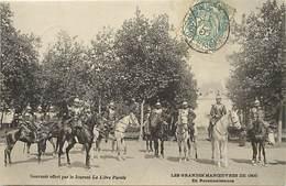 -themes Div.-ref-DD481-militaires Militaria - Regiments - Les Grandes Manoeuvres De 1905- En Reconnaissance - - Manovre