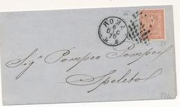 1870 ROMA 0,02 VITTORIOE EMANUELE II CON ANNULLO MUTO A PUNTI  DI ROMA - Storia Postale