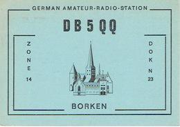 QSL - GERMANY - DB5QQ - JOSEF OELPMANN - BORKEN  - 1977 - Radio Amateur