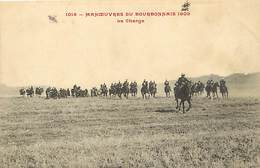 -themes Div.-ref-DD478- Militaires Militaria - Manoeuvre - Manoeuvres Du Bourbonnais -allier - 1909- La Charge - - Manovre