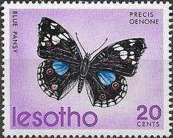 LESOTHO 1973 Butterflies - 20c - Precis Oenone MH - Lesotho (1966-...)
