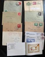 9894 - Petit Lot 49 Lettres, Documents Et Entiers Postaux - Collections