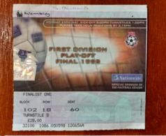 Ticket Soccer Championship Of England. Football. The Final Match For Reaching The Premier League. Sunderland - Tickets D'entrée