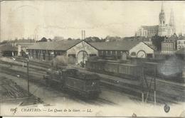 CHARTRES , Les Quais De La Gare , ( Avec Train ) , 1915 , µ - Chartres