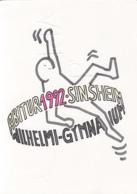 84491- SINSHEIM WILHELMI GYMNASIUM, HIGH SCHOOL SPECIAL POSTCARD, PLANE STAMP, 1992, GERMANY - Storia Postale
