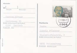84508- HEINRICH SCHLIEMANN STAMP ON POSTCARD, 1990, WEST GERMANY - Storia Postale