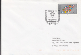 84522- ESSEN EUROPEAN COUNCIL SPECIAL POSTMARK ON COVER, EUROPEAN PARLIAMENT STAMPS, 1994, GERMANY - Storia Postale