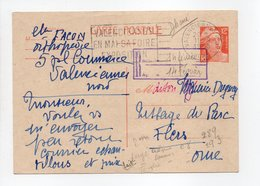 - Carte Postale HERBORISTE-ORTHOPÉDISTE FACON, VALENCIENNES (Nord) Pour TISSAGES DUGUEY, FLERS (Orne) 11.2.1955 - - Standard- Und TSC-AK (vor 1995)