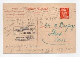 - Carte Postale FABRIQUE DE CORSETS MÉDA, TOULOUSE Pour TISSAGES DUGUEY, FLERS (Orne) 23.1.1953 - - Cartes Postales Types Et TSC (avant 1995)