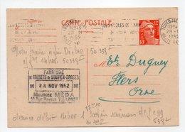 - Carte Postale FABRIQUE DE CORSETS MÉDA, TOULOUSE Pour TISSAGES DUGUEY, FLERS (Orne) 28.11.1952 - - Cartes Postales Types Et TSC (avant 1995)