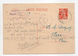 - Carte Postale MAISON HÉRAUT, NÉRAC Pour TISSAGES DUGUEY, FLERS (Orne) 25.11.1953 - 12 F. Orange Marianne De Gandon - - Cartes Postales Types Et TSC (avant 1995)