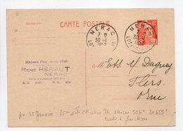 - Carte Postale MAISON HÉRAUT, NÉRAC Pour TISSAGES DUGUEY, FLERS (Orne) 30.1.1952 - 12 F. Orange Marianne De Gandon - - Cartes Postales Types Et TSC (avant 1995)