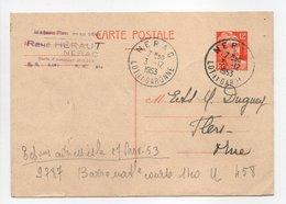 - Carte Postale MAISON HÉRAUT, NÉRAC Pour TISSAGES DUGUEY, FLERS (Orne) 3.12.1953 - 12 F. Orange Marianne De Gandon - - Cartes Postales Types Et TSC (avant 1995)