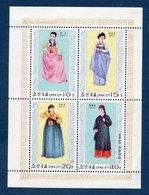 Corée Du Nord - YT Bloc N° - Neuf Sans Charnière - Costumes - 1977 - Korea (Nord-)
