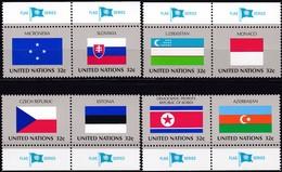 UNO-New York, 1998,  756/63  MNH **,   Flaggen Der UNO-Mitgliedstaaten (XII). - Ongebruikt