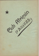 1898 Club Africain D'anvers Au Café Francais Place Verte Listes Des Membres Congo Afrique - 1801-1900