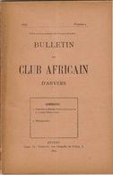 1898 Bulletin Du Club Africain D'anvers Au Café Francais Place Verte Congo - 1801-1900