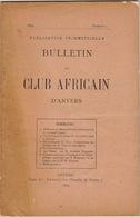 1898 Bulletin Du Club Africain D'anvers Au Café Francais Place Verte Congo Anvers Stanley - 1801-1900