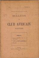 1898 Bulletin Du Club Africain D'anvers Au Café Francais Place Verte Congo Anvers Stanley Caoutchouc - Libros, Revistas, Cómics