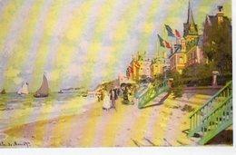 Claude Monet- La Plage A Trouville -1890- - Paintings