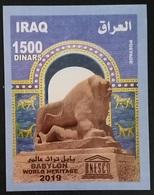Iraq NEW 2019 Block S/S MNH Babylon UNESCO World Heritage, Lion - Iraq