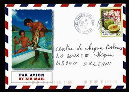 POLYNESIE TAHITI Lettre Illustrée Iles Sous Le Vent BORA BORA VAITAPE 21-7-1999 Non Franchise Pour Chèques Postaux TTB - Tahití