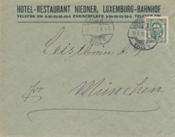 Luxembourg - 1912 - 12,5c Grossherzog Wilhelm On Cover From Luxembourg-Ville To München / Deutschland - 1906 Guillaume IV