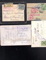 1916-1918  Lot Document Cachet Militaire , Censure ........... ( 7 Pieces  ) - Briefe U. Dokumente