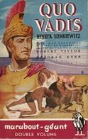QUO VADIS - HENRYK SIENKIEWICZ - COLLECTION MARABOUT GÉANT  N° G 2 - 1951 - Cinéma / TV