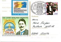 "BRD Amtl. GZS-Sonderpostkarte PSo 57 ""Int. Berliner BM-Tage"" WSt. ""50.Todestag Von Paul Lincke"", ESSt. 18.10.1999 BERLIN - BRD"