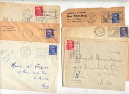Lot 66 Lettre Flamme Publicitaire Texte Sur Gandon à Voir - Poststempel (Briefe)