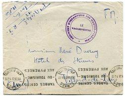 RC 15275 FRANCE 1940 TARBES FRANCHISE REGIMENT D'INFANTERIE DES HAUTES PYRENEES LETTRE / COVER TB - Guerra De 1939-45