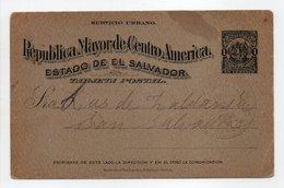 - TARJETA POSTAL SAN SALVADOR 28 JUL 1898 - - El Salvador