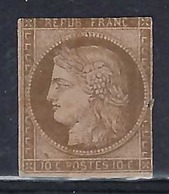 Colonies Rançaises 1872:   Le Y&T 18 (?), Neuf (*) - Cérès