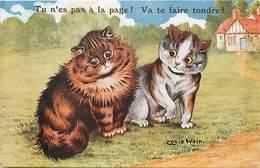 -themes Div.-ref-DD440- Chat- Chats- Cats - Cat - Illustrateurs -illustrateur Louis Wain - La Pelouse - - Wain, Louis