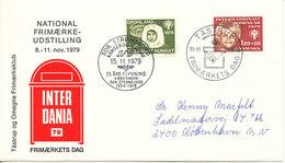 Greenland Denmark Cover Tastrup Stamp's Day 11-11-1979 And 25th Years Anniversary Flight Copenhagen - Sdr. Strömfjord - Brieven En Documenten