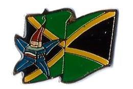 JO ALBERTVILLE 92 - J155 - MASCOTTE Avec DRAPEAU - JAMAIQUE - Verso : C / 1991 COJO - Olympic Games