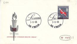 L-Luxembourg 1966. FDC LAV-Gewerkschaft (7.131) - Luxemburg