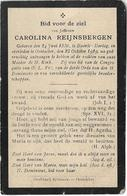 Doodsprentje  *  Reijnsbergen Carolina (° Baarle-Hertog 1836  / + Oostacker 1919) - Religion & Esotérisme