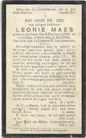 Doodsprentje  *  Leonie Maes (° Ursel 1886  / + Gent 1924) - Religion & Esotérisme