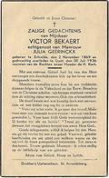 Doodsprentje *  Bekaert Victor (° Ertvelde 1869 / + Gent 1936) X  Julia Geerinckx - Religion & Esotérisme