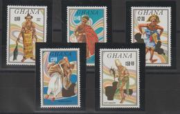 Ghana 1984 Costumes Et Danses 854-58 5 Val ** MNH - Ghana (1957-...)
