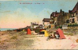 CPA -  COUTAINVILLE - LA PLAGE - France