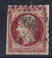 FRANCE 1854:   Le Y&T 17A , Oblitéré GC 2199 (Marchiennes)  B à TB - 1853-1860 Napoléon III