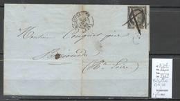 France - Lettre - Yvert 3 Defectueux - 06/01/1849 - Montpellier Pour Brioude - Oblitération Plume - Marcofilia (sobres)