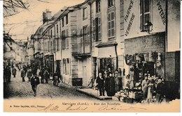 Saône Et Loire MARCIGNY   Rue Des Récollets (Niveau Magasin Faïence, Verrerie, Poterie. Animation) - Autres Communes