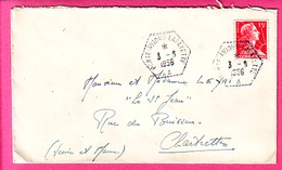 ENVELOPPE OLITERATION DE 1956 PORTE AVIONS LAFAYETTE SUR GANDON - Marcophilie (Lettres)