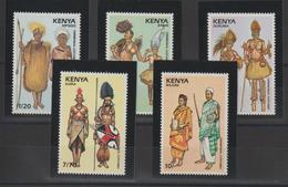 Kenya 1989 Costumes 487-91 5 Val ** MNH - Kenya (1963-...)